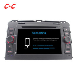 Wholesale Touch Screen Radio For Prado - Quad Core HD 1024*600 Android 5.1.1 Car DVD Play for Toyota Prado with GPS Navigation Radio Wifi Mirror link DVR