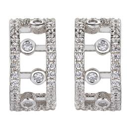 Wholesale Women S Earrings Gold Plated - Noble Women 925 sterling silver White Cubic Zirconia Earrings S-YE00522 Engagement Wedding Explosion models Christmas gift Fancy Favourite
