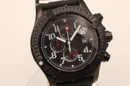 Wholesale Skeleton Rubber Watch - High Quality Bre Quartz watch Men Black Dial Analog Black Skeleton Rubber Band 1884 watch Monor Hemmo