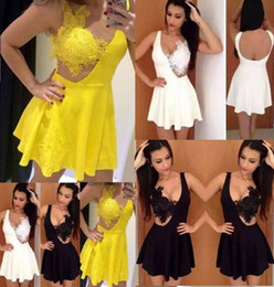 Wholesale Women Crochet Party Dress - Fashion party summer sexy lace dress the original single ladies sexy summer dress stitching lace crochet night & club pleated dress