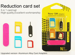 2019 t мобильный iphone 4s 5 в 1 nano SIM-карты адаптеры регулярные Micro Sim стандартные SIM-карты инструменты с красочными для iPhone 5s se 6 6s plus