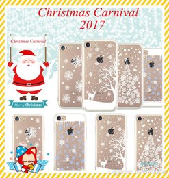Wholesale Cell Christmas Cases Wholesale - 2017 for iphone 7 plus 6s plus TPU box Christmas Gifts snow elk All-inclusive anti-drop cell phone cases protector