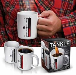 Wholesale Thermometer Coffee Cups - Free Shipping !!! Magic Color Changing Cup Thermometer Coffee Mug Tank Up Mugs Your Best Choice Perfect Gift For Friends