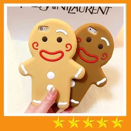 Wholesale Gingerbread Man Wholesale - South Korean Style Gingerbread Man Cookie Man Protective Sleeve Soft Silicon Case for iphone X iphone 6 6S Plus 7 Plus