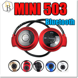 Wholesale Mini Headphone Speaker - Mini 503 50pcs Sport Bluetooth Speaker Headset Wireless Headphones mini-503 Hifi Music Player For iPhone 6 Plus S7 edge S5 Note 4 5S
