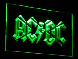 Wholesale Cheap Sign Lighting - c079 ACDC AC DC Band Music Bar Club LED Neon Light Sign Wholesale Dropshipping Cheap dropship jewellery