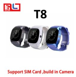 Wholesale upgrade card - T8 Smart Watch wearable devices LBS tracker Bluetooth 3.0 0.3MP Camera Support SIM Card M26 Upgraded version With the Retail Box