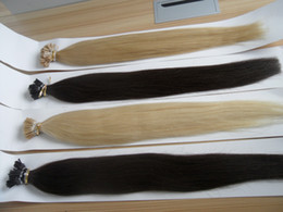 "Wholesale Nano Rings Black Hair - Cheap Hair 8A Grade 18""-28""Indian Pre-Bonded Human Hair Nano Ring Hair Extension 1g strand,100g pc IN Stock Free Shipping"