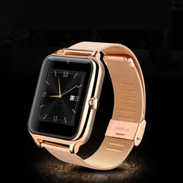 Wholesale Wholesale Stainless Steel Wrist Watches - [20PCS] Z60 Smart Watch Stainless Steel Bluetooth Smart Watch Phone Support SIM TF Card Camera Fitness Tracker Smartwatch for IOS Android