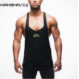 Wholesale Brand New Equipment - Wholesale- New Brand Gyms Mens Tank Tops Stringer Bodybuilding Equipment Fitness Men's GYMS Tanks Clothes