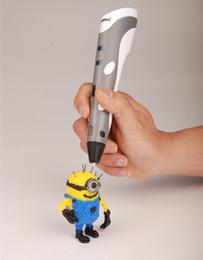 Druckstift online-Neue Design 3D Druckstift Hohe Qualität 12 V 3A Mit 3 Farben Filament Beste Geschenk Für Kinder Drucker Stifte
