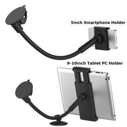 LP-3C Cuello de cisne Tubería suave Soporte de succión para ventanilla de coche de 360 grados Universal 3.5-5.5 pulgadas Soporte para teléfono móvil + 9-10 pulgadas Tablet PC / Soporte de navegador desde fabricantes