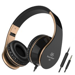 Wholesale Ipad Headset Microphone - Sound Intone I65 Headphones with Microphone and Volume Control Foldable Headset for iPhone 6 6s iPad iPod, Android Device
