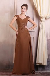 Wholesale Maternity Chiffon Bridesmaid Dresses Burgundy - Mother of Bridal Dresses Sweetheart Sheer Capped Sleeves with Lace Applques Beads Floor Length Real Images Hollow Back Evening Dresses