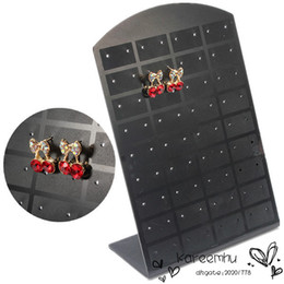Wholesale 36 Pairs Earring Stand - 36 Pair Studs Earrings Display Stand Organizer Jewelry Holder ShowCase Tool Rack Black Case