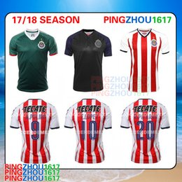 Wholesale Wholesale Men S Jerseys - Thai quality Jersey Chivas de Guadalajara 2017 18 Home away soccer jersey Chivas 17 18 green Third Football Shirts Pulido jerseys free DHL