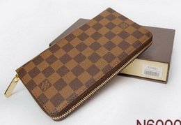 Wholesale New Zipper Wallets For Mens - Free shipping !!! Hot Sell !!! 2017 new PU Leather mens and womens wallets purse card Holders (6 color for pick) ***mary002