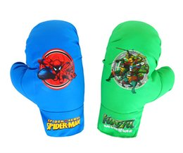 Wholesale Spider Man Gloves - Kids Boxing Gloves PU Leather Children Boxing Training Punching Gloves Spider-man patterns MMA Kick Fight Boxing Gloves