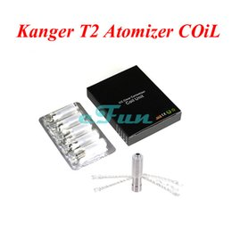 Wholesale Replacement Coils Wicks - Original Kanger T2 Clearomizer Changeable Coil Kangertech T2 Atomizer Coil Core Kanger T2 Replacement Coils with Long Wick Kangertech Coil