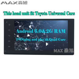 "Wholesale Toyota Rav4 Dvd Player - HD 7"" 2G+16G Android 6.0 Car DVD Player for Toyota Terios Old Corolla Camry Prado RAV4 Universal with Radio BT WIFI SWC"