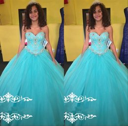 Wholesale Quinceanera Dress Hot Pink - Hot Sweetheart Quinceanera Dresses 2017 Ball Gown Tulle Lace Up Long Crystal Beaded Sweet 16 Girls Formal Occasion Party Dress