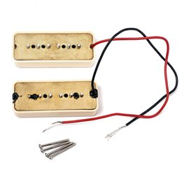 Wholesale Guitar Single Coil - Single Coil Beige Guitar Pickup (Bridge & Neck Pair)