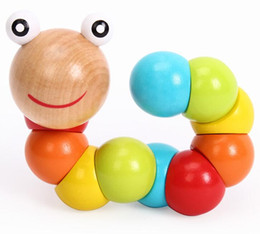 Wholesale Baby Variety - Variety color shilly caterpillars. Baby educational toys wooden grip. Baby toys finger, hand puppet