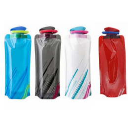 Wholesale Foldable Water Bottles Wholesale - Folding water bottle With Pothook Foldable Portable Sports Water Bottle Collapsible Outdoor Sports Drinks Bottle Reusable Cup 700ML SF25