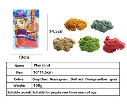 Wholesale wholesale sand toys - DIY 100g bag with 1 Model Colorful Clay Play Sand Indoor Magic Play Sand Children Learning Educational Toys Christmas Gift Toys