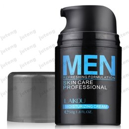Wholesale Men Lotion - 2016 new Brand LAIKOU Natural Men's Skin Care Cream Face Lotion Moisturzing Oil Balance Brighten pores minimizing 50g Men Facial Cream JTLY