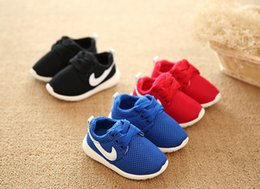 Wholesale Boys Bowtie Black - 2016 Spring Autumn Children Shoes Blue+Red+Black Breathable Comfortable Kids Sneakers Boys Girls Toddler Shoes Baby Size21-25
