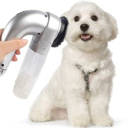 Wholesale Suction Vacuum Cleaners - Pet Hair Vac Vacuum Removal Fur Suction Grooming Device Incredible Cordless Pet Vac Gray