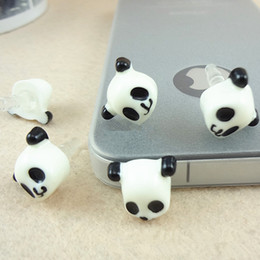 Wholesale Decoration For Dust Plug - Wholesale-12pcs lot Hot 2016 Lovely Panda decoration Phone Anti Dust Plug Phone Accessories For Phone 3.5mm Earphone Jack Plug