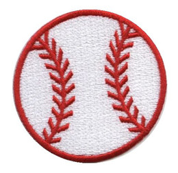 Wholesale Iron Patches Baseball - Baseball Sport Ball EMBROIDERED IRON ON PATCH BIKER VEST BADGE EMBLEM Wholesale Free shipping