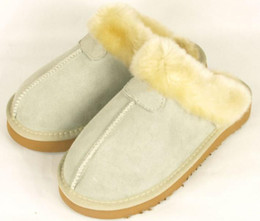 Wholesale Womens Winter Warm Boots - Brand Winter warm Warm cotton Men Womens slippers Womens boots Snow boots Brand Designer Indoor cotton slippers Leather slippers