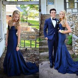 Атласная тафта онлайн-Простой элегантный платье выпускного вечера длинные дешевые высокое качество Тафта Русалка вечерние платья милая декольте рукавов носить с поездом
