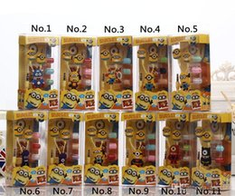 Wholesale Despicable Headphones - Newest cartoon in-ear wired 3.5mm earphone headphone Despicable Me Minions model headset for MP3 MP4 cell phone with retail package