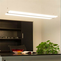Wholesale light switch plates wholesale - Rectangle Led Frameless light guide plate droplight living room restaurant Hotels office crystal chandelier Creative LED light panel Pendant
