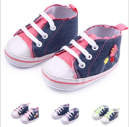 Wholesale China Baby Pvc Shoes - Drop shipping soft baby shoes,Lovely canvas lace flower toddler Casual shoes,0-18 M fall kids shoes,china boys shoes!9pairs 18pcs.ZH
