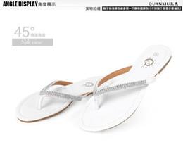 Wholesale Black Rubber Flip Flops - Elsa Shoes Time-limited White Black Women Flat Heel Rhinestone Sandals Female New 2016 Yards Dichotomanthes Flip Flops Fashion Lady Slippers