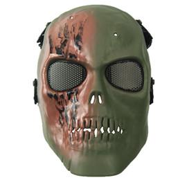 Máscara do partido horrível máscara de caveira de horror adulto rosto cheio respirável máscara de halloween fancy dress partido cosplay traje drama toy de Fornecedores de arte de madeira do dia das bruxas