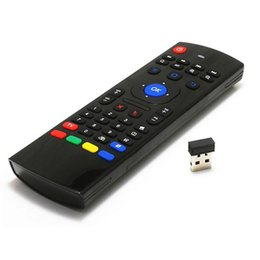 Wholesale Cheap Tv Wholesale Prices - Cheap Price MX3 MX-3 2.4Ghz Wireless Air Fly Mouse Keyboard For M8S MXQ MXIII Android TV Box + UniversalTV Remote Control without MIC