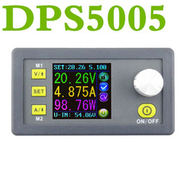 Wholesale Digital Voltage Display Voltmeters - DPS5005 Constant Voltage current Step-down Programmable control Power module buck converter color LCD Display voltmeter DP50V5A Upgraded
