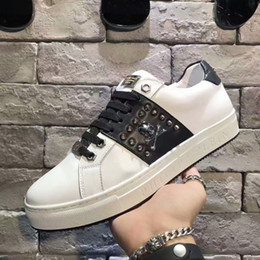 Wholesale Italian Women Shoes Brands - 2017 high top Men sneakers Italian brand casual women shoes trainers Genuine Leather with double zipper and metal button