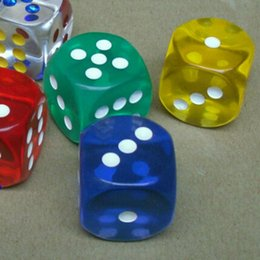 Wholesale transparent dice wholesale - Big Size Transparent 6 Sided Dice Clear 25mm Crystal Games Dice Party Drinking Game Entertainment Accessories Good Price #R15