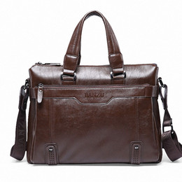 Wholesale White Briefcase Leather - Wholesale-New Fashion Commercial Briefcase For Man Business Crossbody Bags Men's Leather Casual Shoulder Bag Sacoche Homme Bolsa
