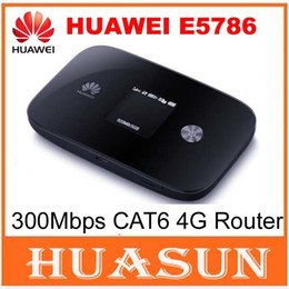 Wholesale 3g Sim Card Router - DHL EMS free shipping New Arrival Original Unlock 300Mbps CAT6 HUAWEI E5786 3G 4G WiFi Router With Sim Card Slot E5786s-32a 4G LTE Mobile Wi
