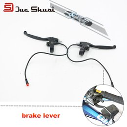 Wholesale Disc Brake Mountain Bike Kit - Electric Bicycle Brake Lever Bolt 34cm Cable Waterproof Plug Rotor Wheel Part Disc Adapter Brake Line Wire Speed Gear Hose Kit