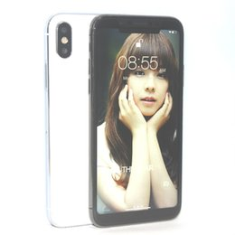 """Wholesale Hd Dual Sim - Wireless Charging Face recognition Goophone X 10 Quad Core MTK6580 Android 6.0 1GB 16GB 5.5 """" HD 1280*640 8MP 3G Green Tag Sealed Smartphone"""