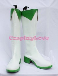 Wholesale Vocaloid Shoes - Wholesale-Custom Made Japanese Anime Vocaloid GUMI (Megpoid) Cosplay Shoes Boots For Christmas Halloween Party Birthday
